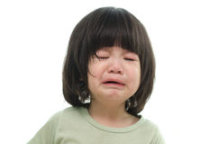 Close up of cute asian baby crying Stock Photography