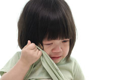 Close up of cute asian baby crying Stock Image