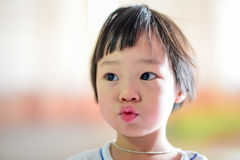 Close up cute Asian girl. Royalty Free Stock Images