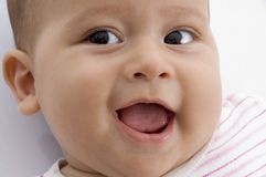 Close up of cute baby Royalty Free Stock Photos