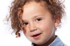 Close up Cute Baby Face Looking at Camera Royalty Free Stock Image