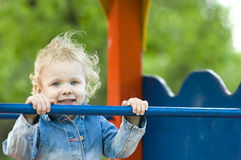 Close-up of Cute Blond Child Stock Photography