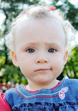 Close-up of cute little baby face Royalty Free Stock Photo