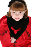 Close up of cute little girl in holiday dress Royalty Free Stock Images