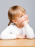 Close-up of a cute little girl Stock Photo