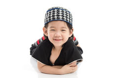 Close up Cute muslim chlid Royalty Free Stock Photo
