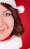 Close up of cute santa girl Royalty Free Stock Image