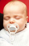 Close-up Of A Cute Sleeping Baby Stock Image