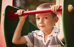 Close up Cute White Kid Looking at Camera stock images