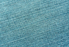 Close-up of cyan color jeans cloth. Stock Photography