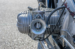 Close-up of a cylinder on a motorcycle. Close-up of a cylinder on a vintage motorcycle Stock Image