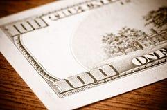 Close-up 100 dólares Foto de Stock