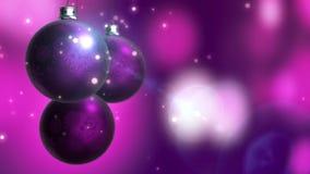 Close-up 3D animatie van 3 Kerstmissnuisterijen met bokeh vage achtergrond royalty-vrije illustratie