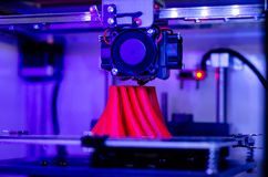 Close-up of 3D printer in action royalty free stock image