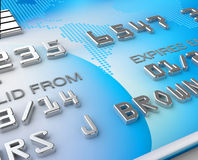 Close up 3d render of a credit card (original design) Stock Images