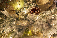 Close-up da árvore de Natal Imagem de Stock Royalty Free