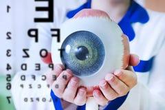 Close up da amostra do oculus da oftalmologia fotos de stock royalty free