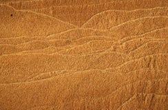 Close-up da areia do rio com tracery horizontal. fotos de stock royalty free