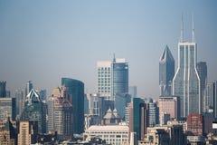 Close up da arquitetura da cidade de Shanghai Imagens de Stock