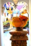 Close up da bacia da esmola da monge Foto de Stock