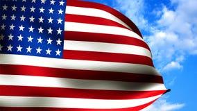 Close up da bandeira americana Fotos de Stock Royalty Free