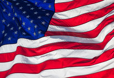 Close-up da bandeira americana fotografia de stock royalty free