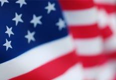 Close up da bandeira americana dos EUA imagem de stock