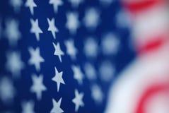 Close up da bandeira americana dos EUA Imagens de Stock