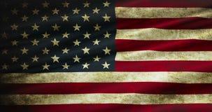 Close up da bandeira americana dos EUA do grunge, Estados Unidos da América, patriótico nacional