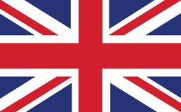 Close up da bandeira de Union Jack O fundo da bandeira BRITÂNICA ilustração stock