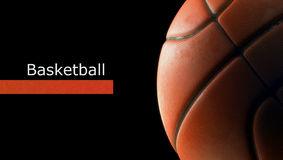 Close up da bola do basquetebol Fotos de Stock Royalty Free