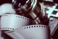 Close-up da câmera velha da foto com cor metálica Imagem de Stock Royalty Free