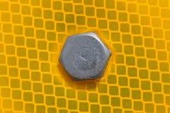Close-up da cabeça de parafuso foto de stock