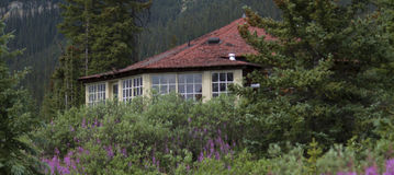Close up da cabine da montanha Imagem de Stock Royalty Free