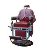Close up da cadeira de barbeiro do vintage Foto de Stock Royalty Free