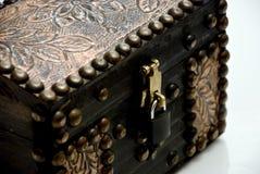 Close up da caixa do tesouro Fotos de Stock Royalty Free