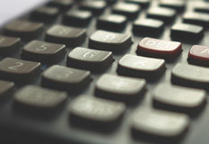 Close-up da calculadora, foco macio Imagens de Stock Royalty Free
