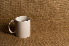 Close up da caneca de café - caneca branca Fotografia de Stock