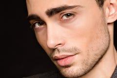 Close-up da cara do homem modelo fotos de stock