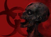 Close up da cara do zombi ilustração stock