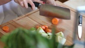 Close-up da cenoura do corte vídeos de arquivo