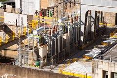 Close up da central elétrica da energia Fotografia de Stock