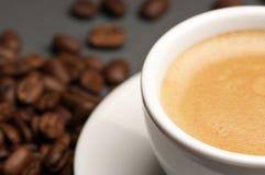 Close-up da chávena de café Foto de Stock