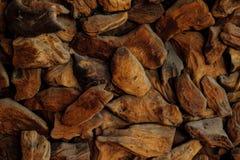 Close up da coberta do trajeto da microplaqueta de madeira Apropriado para fundos ou suficiências Imagens de Stock Royalty Free