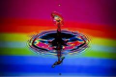 Close up da colisão da gota da água Fotografia de Stock Royalty Free