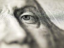 Close up da conta de dólar. Fotografia de Stock