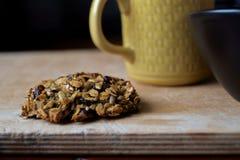 Close up da cookie de farinha de aveia casa-feita imagem de stock royalty free