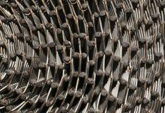 Close up da correia industrial oxidada foto de stock