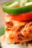 Close up da crosta da pizza Fotografia de Stock