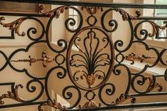 Close-up da decoração elaborada da balaustrada em Rodin Museum em Paris Fotos de Stock